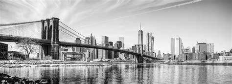 New York Schwarzweiss Panorama Kunstwerk  Modern Art Design