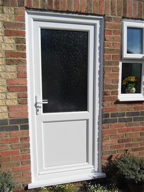 flat panel  mid rail solid upvc  door