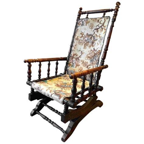 antique armchair american rocking chair mahogany 19th