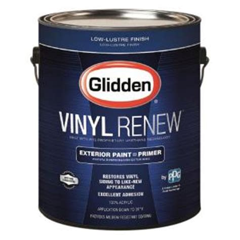 glidden 1 gal white low lustre exterior paint with primer