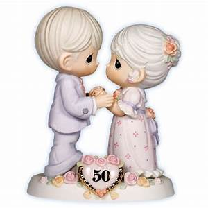 50th wedding anniversary precious moments figurine With 50th wedding anniversary figurines