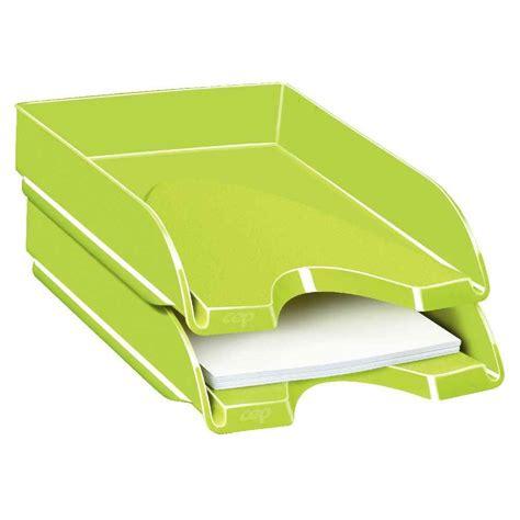 le de bureau vert anis corbeille à courrier fond plein cep pro gloss vert anis