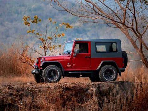 modified mahindra jeep mahindra thar disguised as a jeep wrangler drivespark news