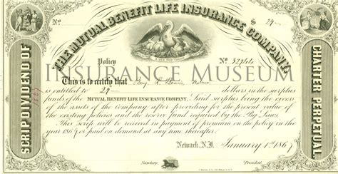 mutual benefit life insurance company 1867 01 01 stocks and share certificates found in the