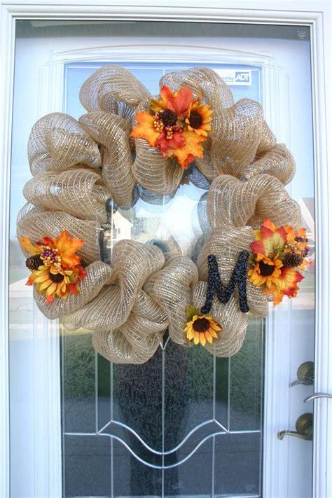 easy diy deco mesh wreaths  fall shelterness