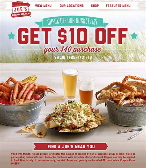The cajun coffee shop is full service coffee house, along with a full breakfast and lunch menu! Joe's Crab Shack Coupons 2021