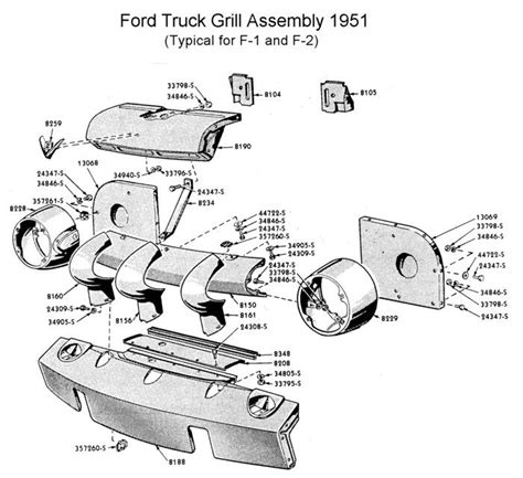1950 Shoebox Ford Headlight Switch Wiring Diagram by 1948 52 Ford F 100 Front Nose Brace Bolts
