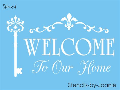 Pin by Terrie J's on stencils | Welcome stencil