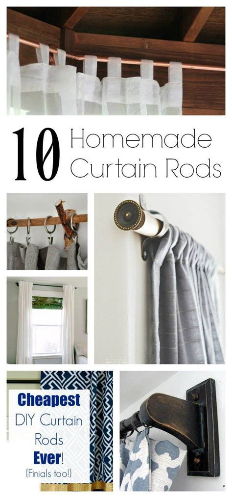 list  homemade curtain rods proves
