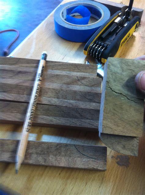 drawer pull template mesquite executive desk build part 3 lone artisans