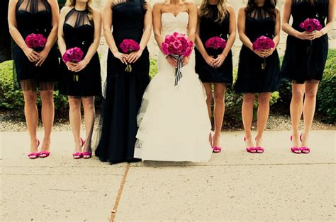fuchsia and pink wedding color combination ideas weddings start here