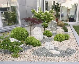 Gartengestaltung Mit Steinen : die besten 25 gartengestaltung mit kies ideen auf pinterest kies steine kiesgarten und ~ Watch28wear.com Haus und Dekorationen