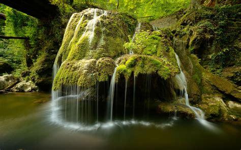 cascade waterfall bigar transylvania romania desktop