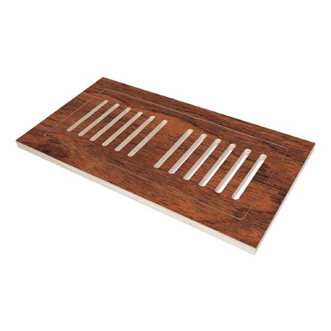 Black Floor Registers Home Depot by Decor Grates 4 In X 10 In Wood Oak Louvered