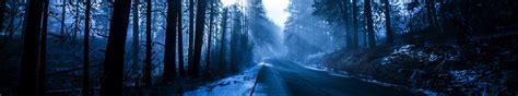 Winter Road Full Hd Tapeta And Tło  5760x1080 Id747362