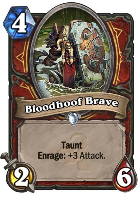 Hearthstone Decks Warrior Taunt by Bloodhoof Brave Hearthstone Card