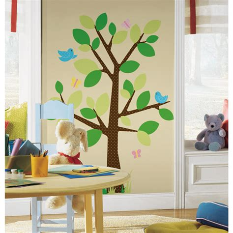 roommates peel stick wall decal dotted tree walmart com
