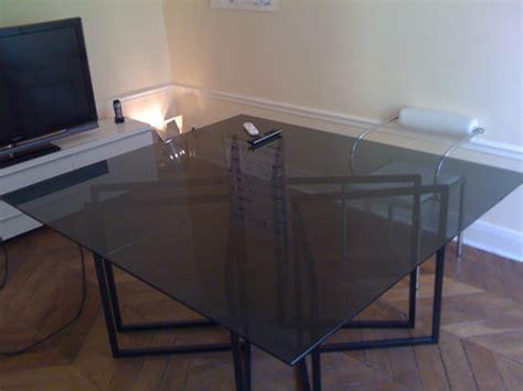 plaque en verre pour bureau plaque de verre sur mesure pour table basse table