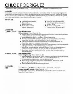 Best Executive Assistant Resume Example