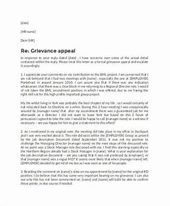 formal letter templates 65 free wordpdf document With grievance appeal letter template