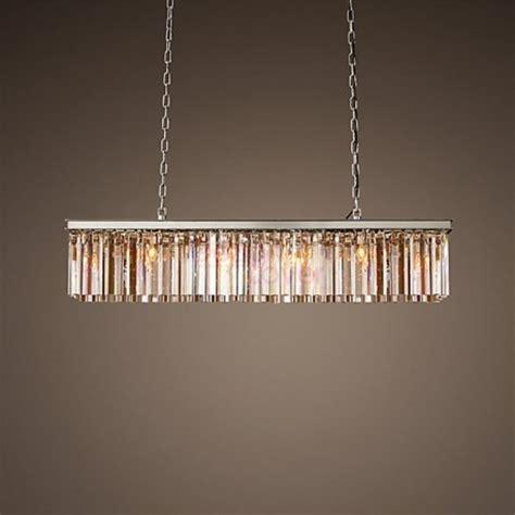 rh rhys prism rectangular crystal chandelier design