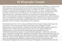 best biography samples best biography on pinterest With dj biography template