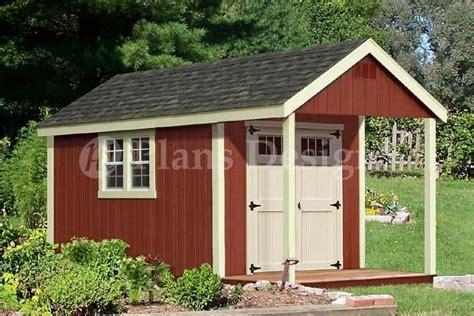 cabin shed  porch plans blueprint p