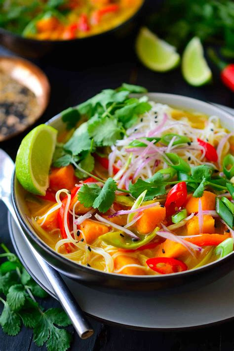 vegetarian thai soup cilantro  citronella
