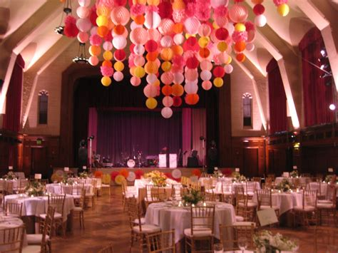 Used Prom Decorations - paper products used to decorate high ceilings wedding
