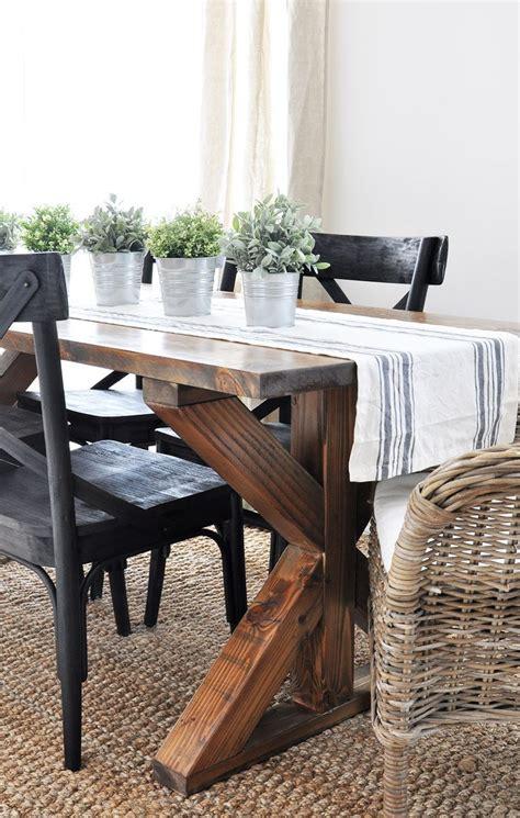 farmhouse kitchen table runners x brace farmhouse table diy projects farmhouse table