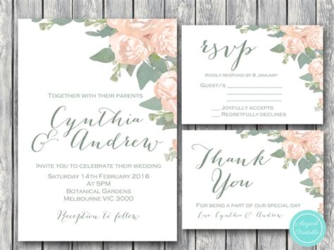 Elegant Wedding Invitation, Rsvp, Engagement Party Invite