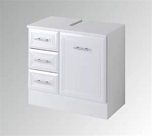 Bad Waschbeckenunterschrank NEAPEL 1 Trig 3 Schubladen