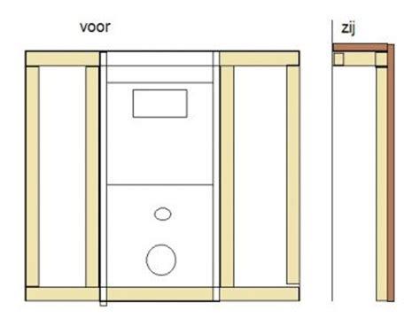 hangend toilet afwerken afwerken hangtoilet