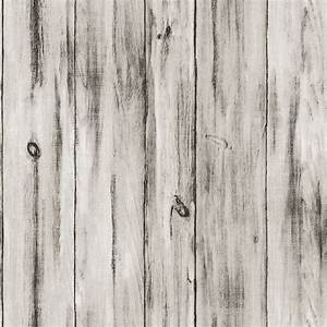 10M Vintage Wood White Wood Non-Woven Vinyl Decorative ...