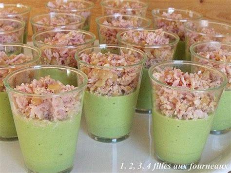 recette verrines courgette jambon noix de cajou