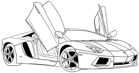 Car Coloring Pages Free Printable Coloring Pages Sports