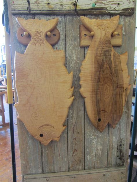 hand crafted hand carved hanging fish cutting board