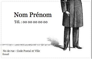 modèle carte de visite personnelle carte de visite personnelle mod 232 le gratuit 224 imprimer