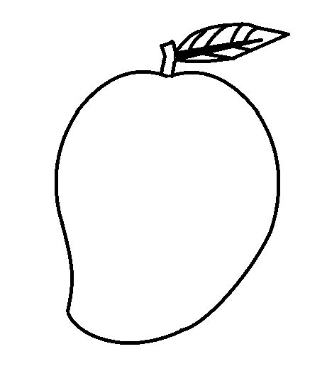 Coloring Mango by Mango Coloring Page Getcoloringpages