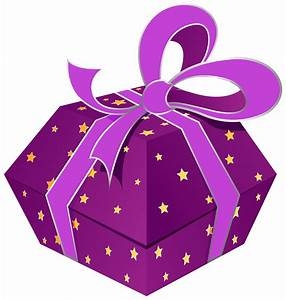 Purple Gift Box with Stars PNG Clipart - Best WEB Clipart