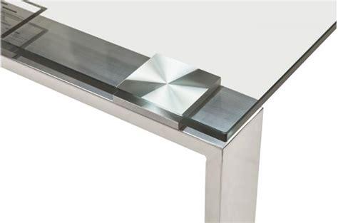 bureau design verre metal bureau verre métal 80x160 volt design sur sofactory