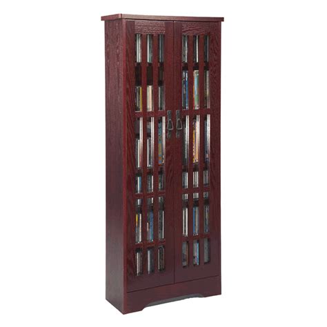 leslie dame mission style multimedia storage cabinet cherry m 477dc