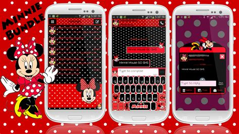keyboard themes for android minnie mouse go sms theme and smart keyboard theme for