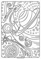 Coloring Printable Pdf Planets Rocket Sheets Planet Space Adults Coloringoo Adult Outer Valentine Tweet Whatsapp Mandala sketch template