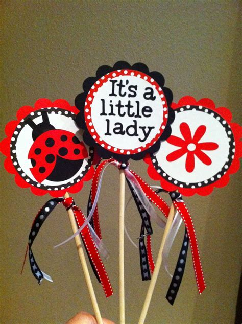 Lady Bug Centerpiece Topper My Cricut Creations