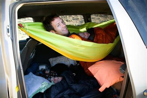hammock for car string a hammock across captain chairs for one kid and the