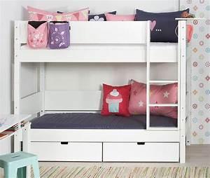 Hochbett Mit Zwei Betten : t v gepr ftes kinder etagenbett aus buche und mdf kids town ~ Whattoseeinmadrid.com Haus und Dekorationen
