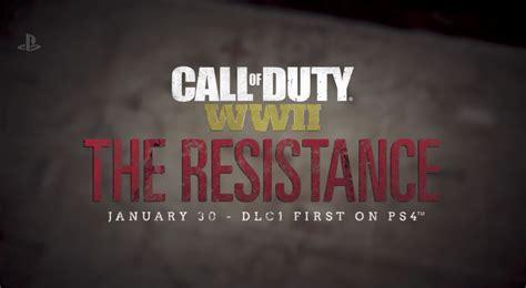 call of duty ww2 the resistance dlc revealed senator