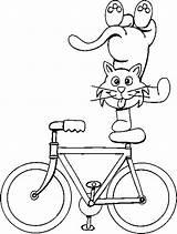 Coloring Summer Bike Printables Amusement Pages Tricks Cat Parks Flowers Doing Central sketch template