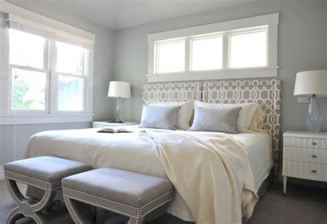 gray trellis headboard contemporary bedroom benjamin